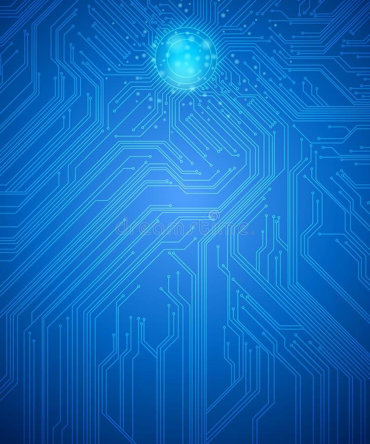 Fondo del circuito de la informática stock de ilustración