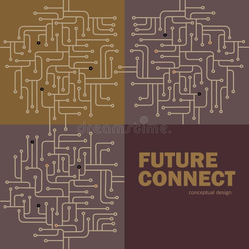 Fondo del circuito electrónico Spu Líneas diseño del circuito Concepto futuro libre illustration
