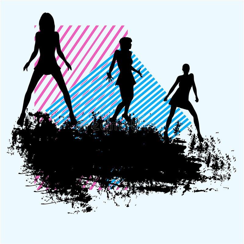 Fondo del club de danza stock de ilustración