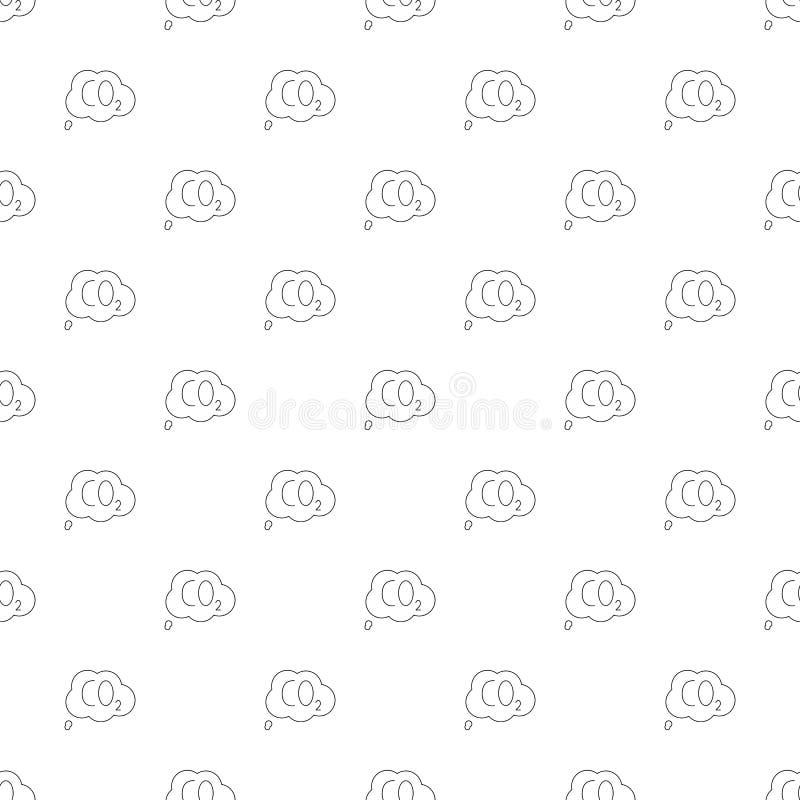 Fondo del CO2 de la línea icono libre illustration