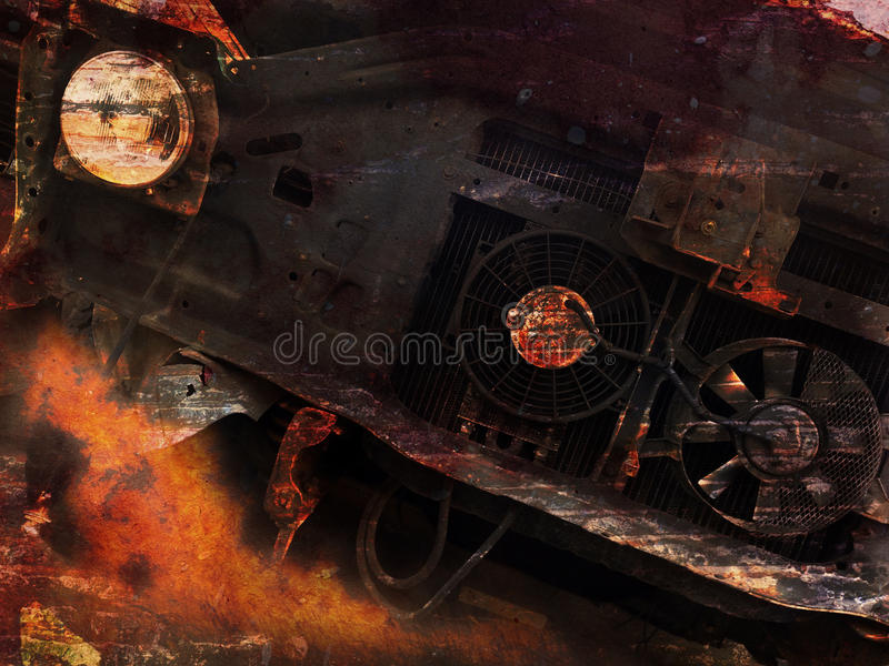 Fondo del coche del Grunge imagen de archivo libre de regalías