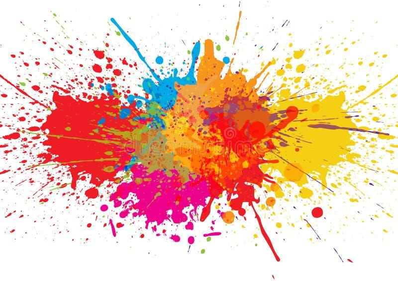 Fondo del color de la salpicadura del vector Diseño de la ilustración stock de ilustración