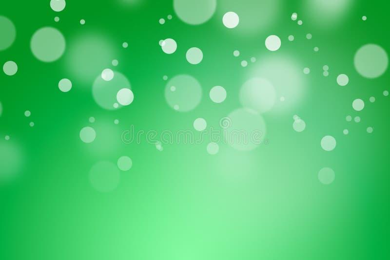 Fondo del color verde con el bokeh fotos de archivo