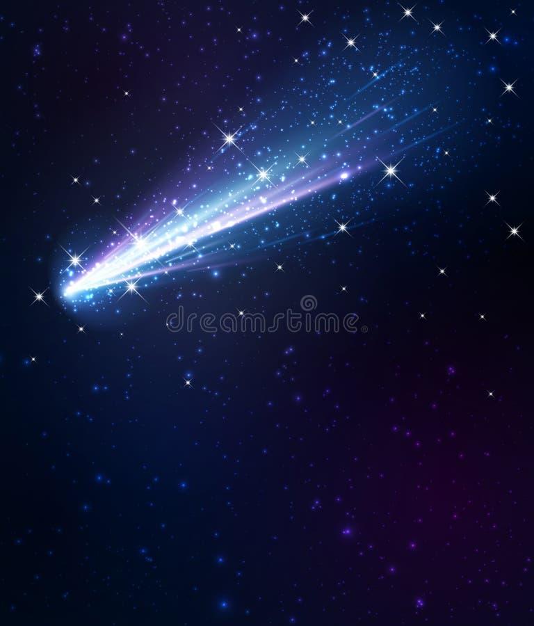 Fondo del cometa ilustración del vector