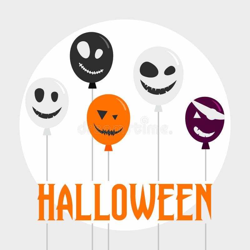 Fondo del concepto de Halloween, estilo plano stock de ilustración