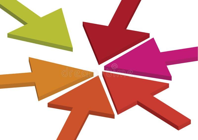 Fondo del concepto de la flecha stock de ilustración
