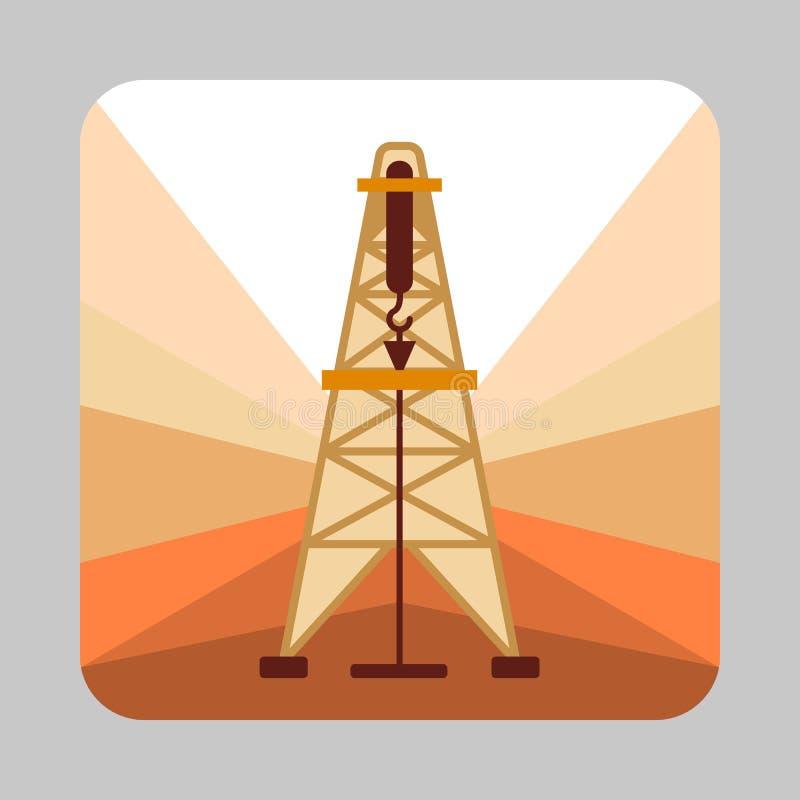 Fondo del concepto de la gasolinera del extracto, estilo de la historieta ilustración del vector