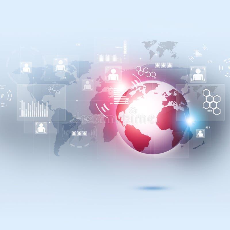 Fondo del concepto de la red del negocio ilustración del vector