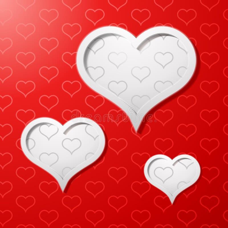 Fondo del concepto de la tarjeta del día de tarjetas del día de San Valentín ilustración del vector