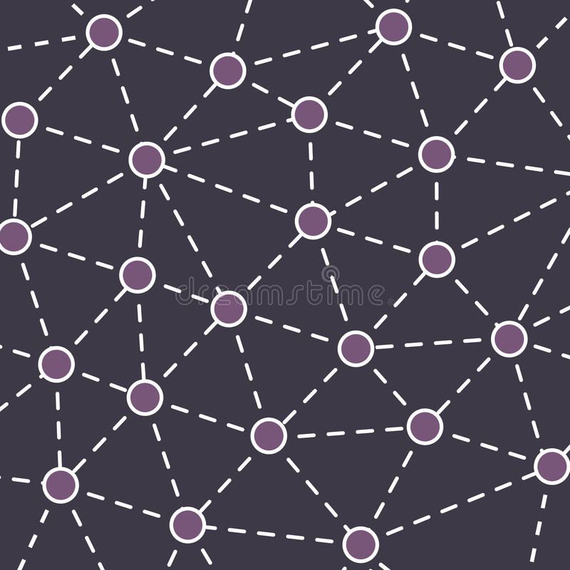 Fondo del concepto de las redes libre illustration