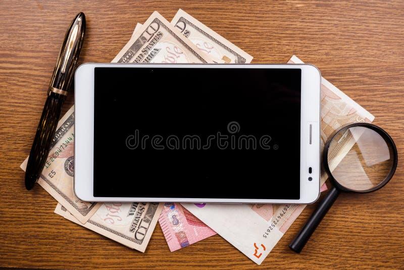 Fondo del concepto del dispositivo móvil imagenes de archivo