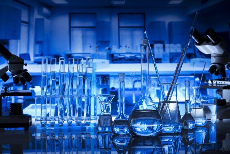 Fondo del concepto del laboratorio de ciencia Experimento de la ciencia imagen de archivo