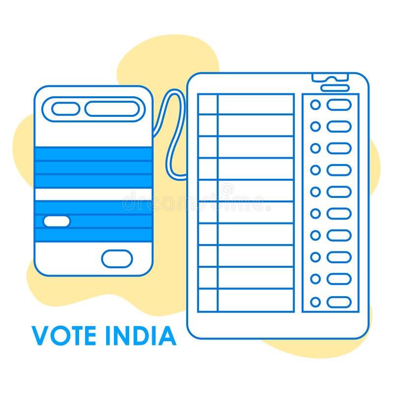 Fondo del concepto para el voto la India para la bandera de la campaña de la democracia de la elección ilustración del vector