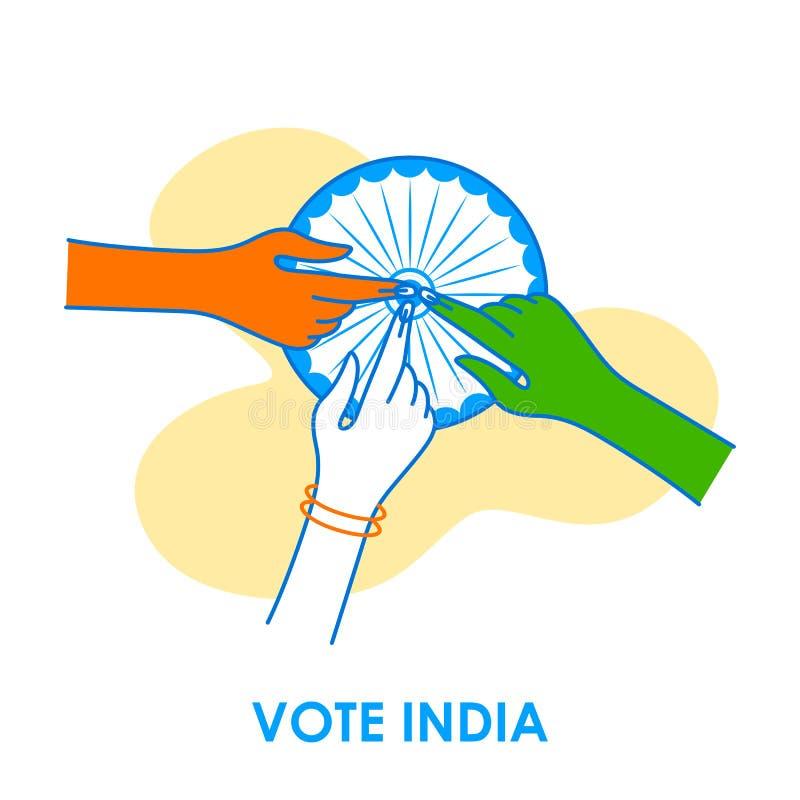 Fondo del concepto para el voto la India para la bandera de la campaña de la democracia de la elección libre illustration
