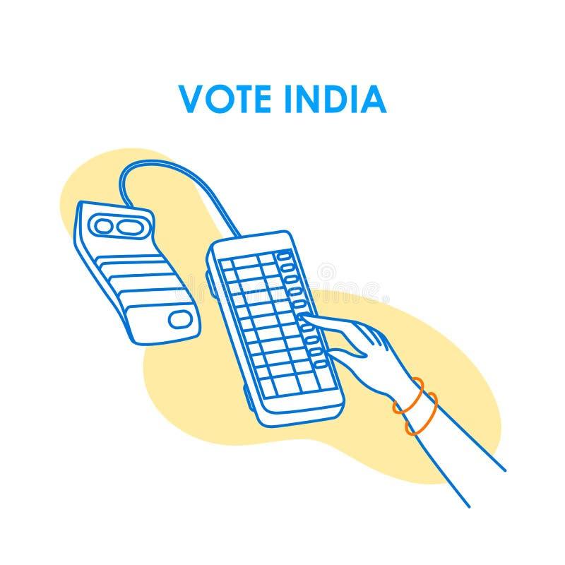 Fondo del concepto para el voto la India para la bandera de la campaña de la democracia de la elección imágenes de archivo libres de regalías
