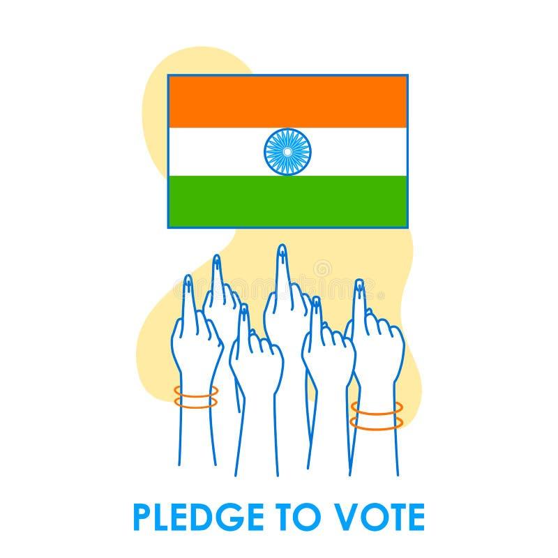 Fondo del concepto para el voto la India para la bandera de la campaña de la democracia de la elección imagen de archivo libre de regalías
