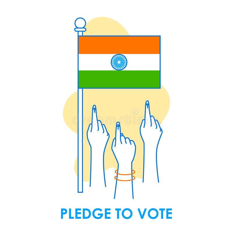 Fondo del concepto para el voto la India para la bandera de la campaña de la democracia de la elección imagenes de archivo