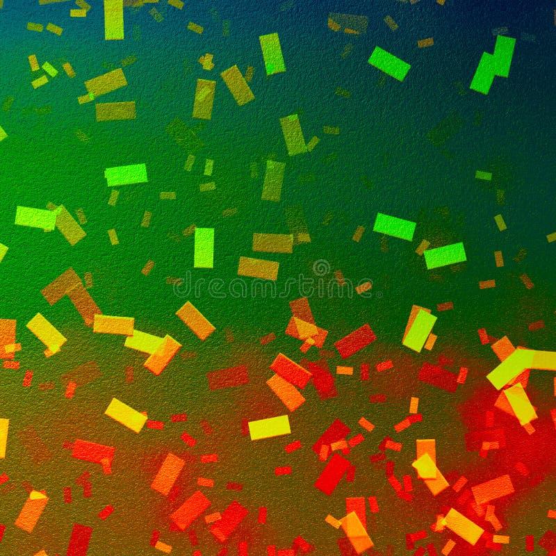 Fondo del confeti de Bokeh Fondo del papel de la textura de la lona Confeti vibrante que cae para los temas del partido imagen de archivo