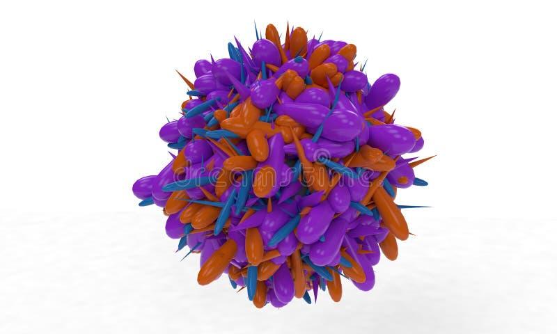 Fondo del cono alisado abstracto, 3d stock de ilustración