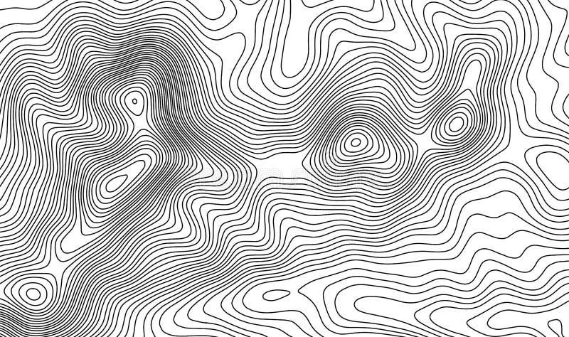 Fondo del contorno del mapa topográfico Mapa del Topo con la elevación stock de ilustración