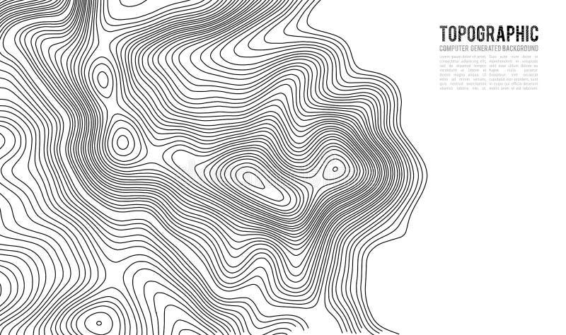 Fondo del contorno del mapa topográfico Mapa del Topo con la elevación ilustración del vector