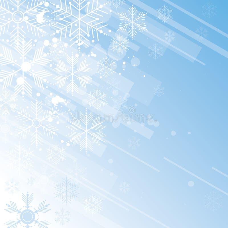 Fondo del copo de nieve ilustración del vector