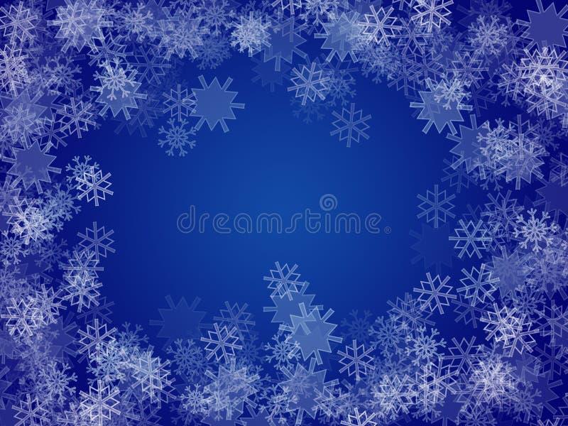 Fondo del copo de nieve stock de ilustración