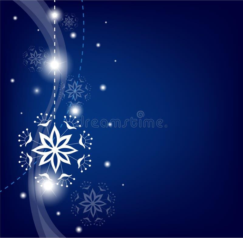 Fondo del copo de nieve de la Navidad ilustración del vector