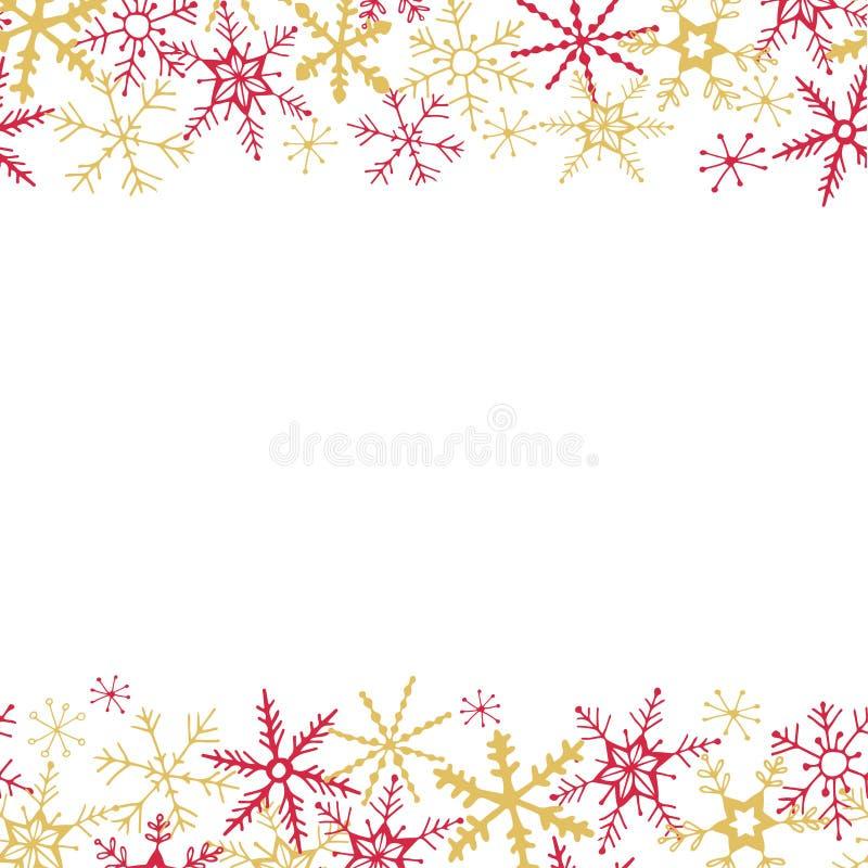 Fondo del copo de nieve del invierno libre illustration