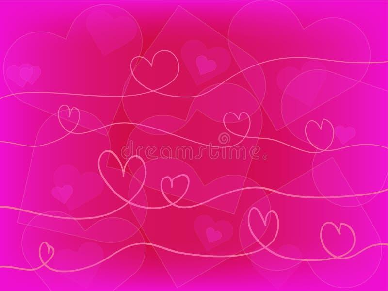 Fondo del corazón stock de ilustración