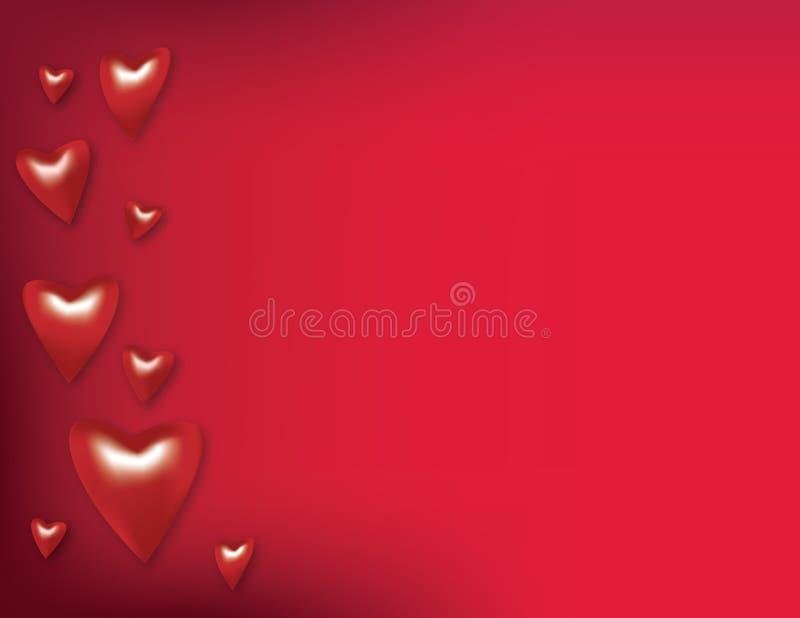 Fondo del corazón de la tarjeta del día de San Valentín imagenes de archivo