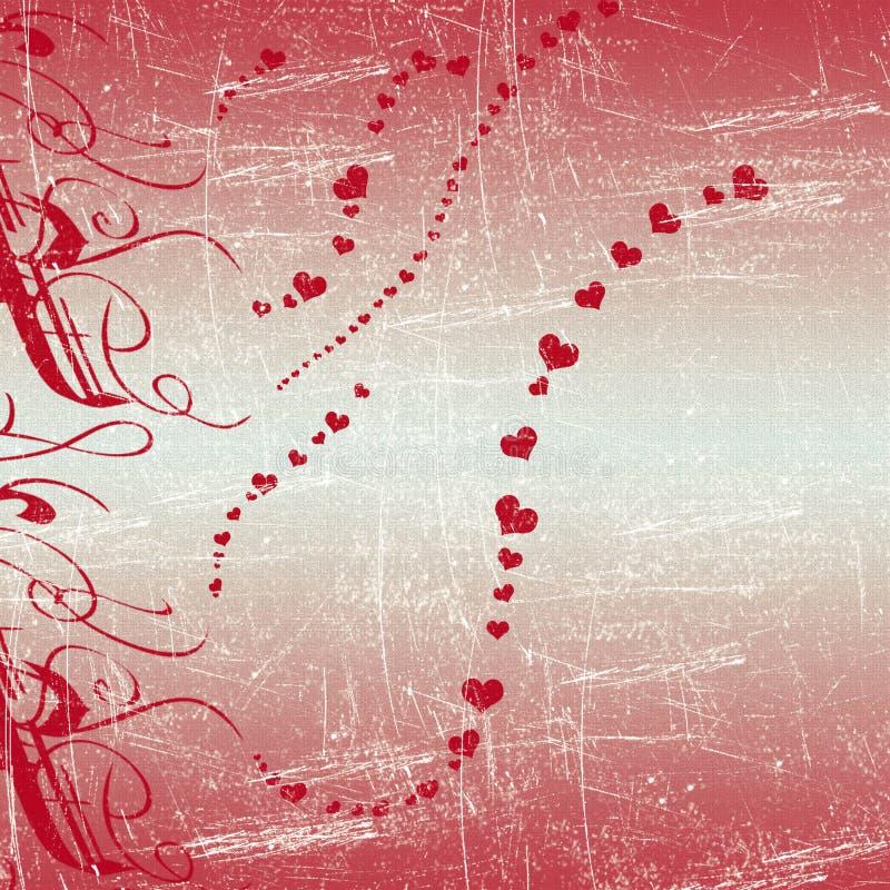 Fondo del corazón de la tarjeta del día de San Valentín ilustración del vector
