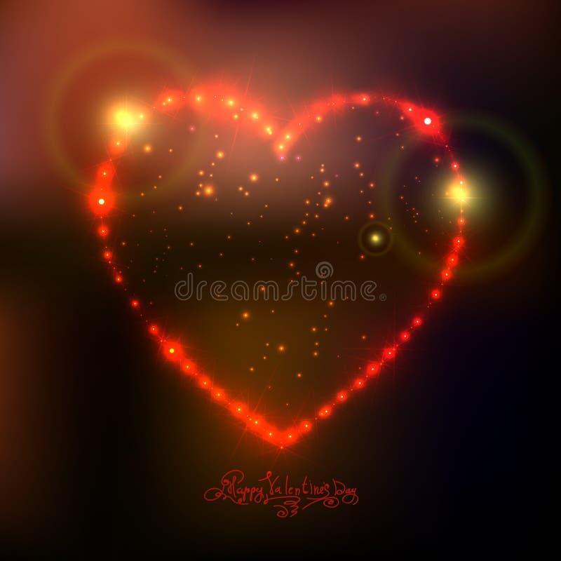Fondo del corazón del amor de las estrellas brillantes hermosas libre illustration