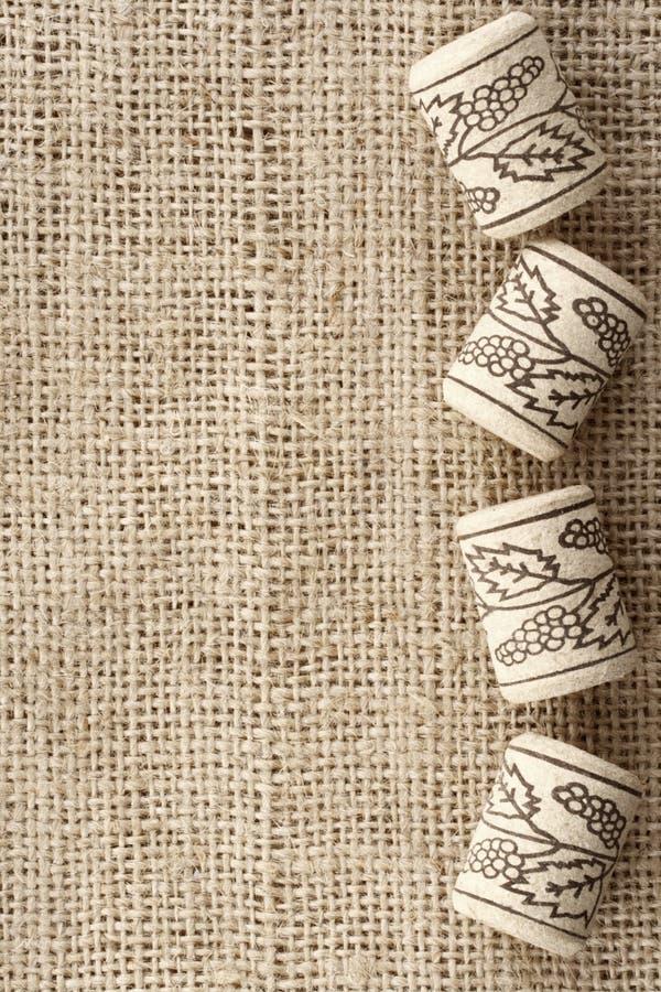 Fondo del corcho del vino foto de archivo libre de regalías