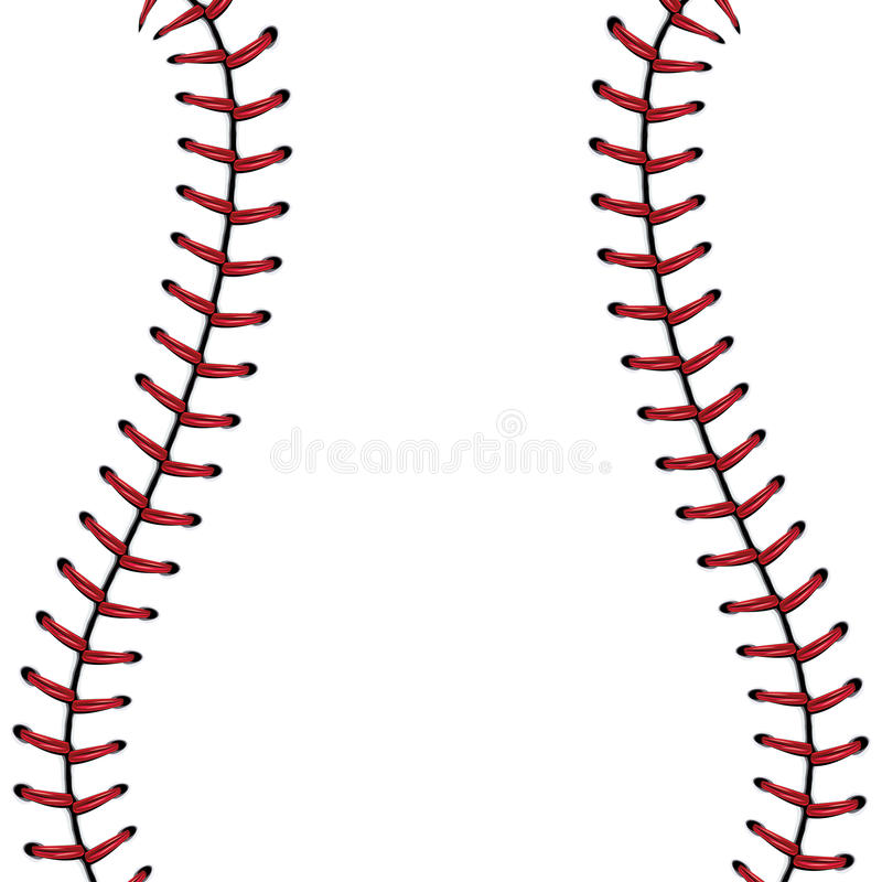 Fondo del cordón del béisbol ilustración del vector