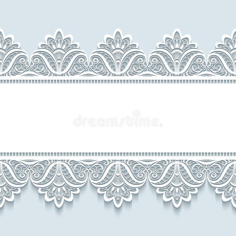 Fondo del cordón del vintage con las fronteras inconsútiles ilustración del vector