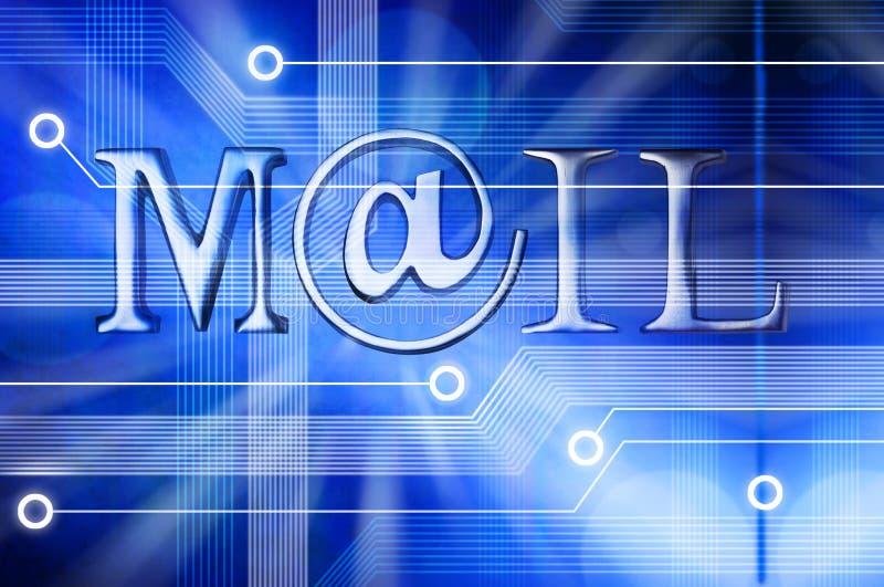 Fondo del correo del correo electrónico ilustración del vector