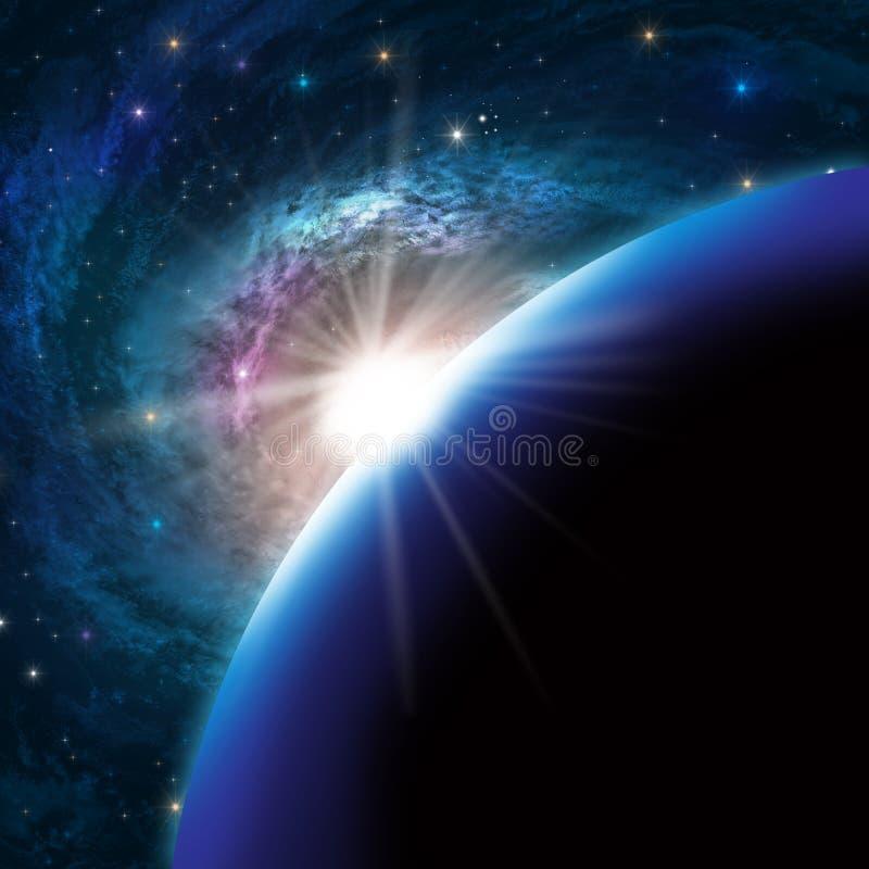 Fondo del cosmos stock de ilustración