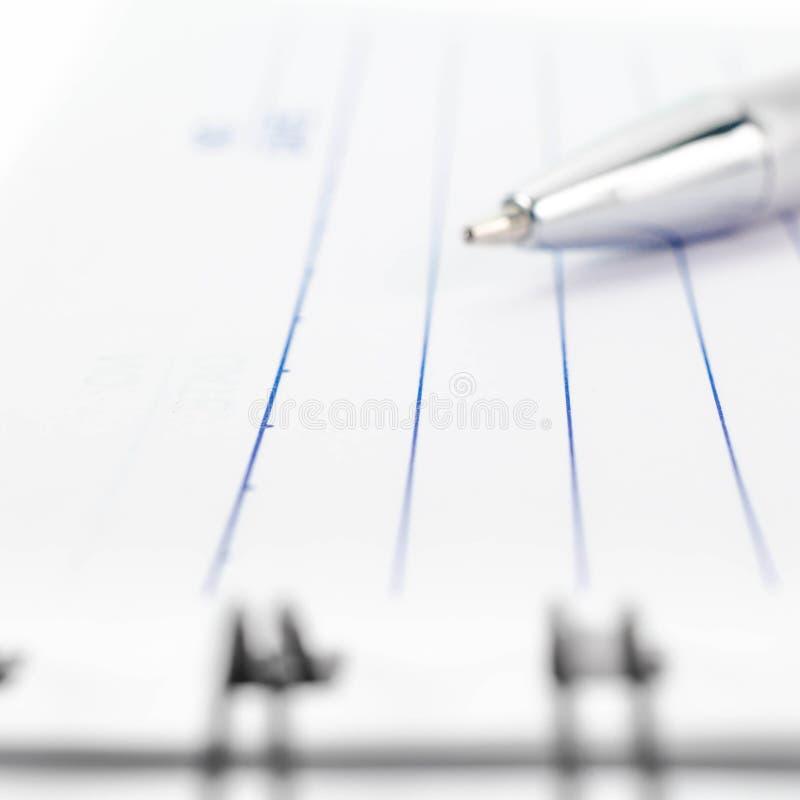 Fondo del cuaderno del atascamiento espiral de la puntada foto de archivo libre de regalías