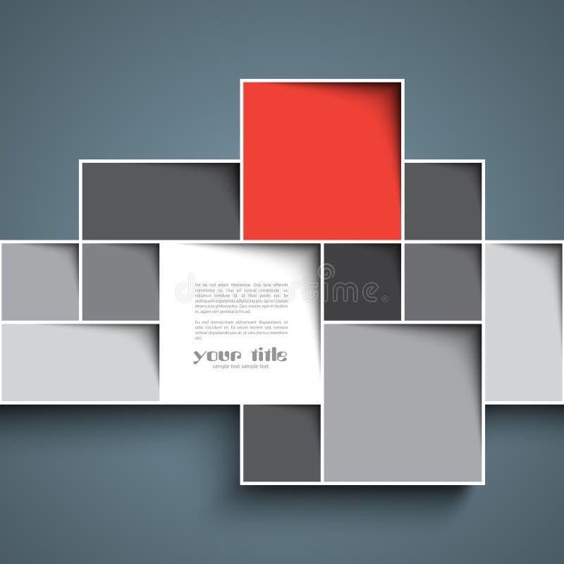 fondo del cuadrado 3d stock de ilustración