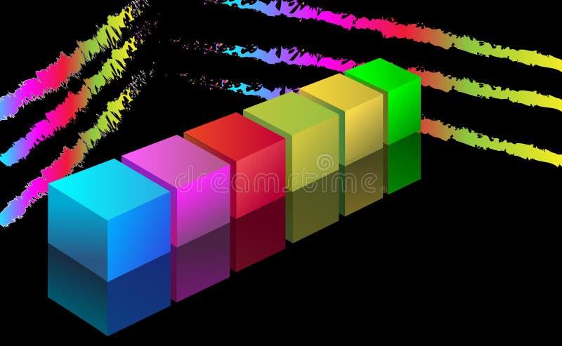 fondo del cubo 3d stock de ilustración