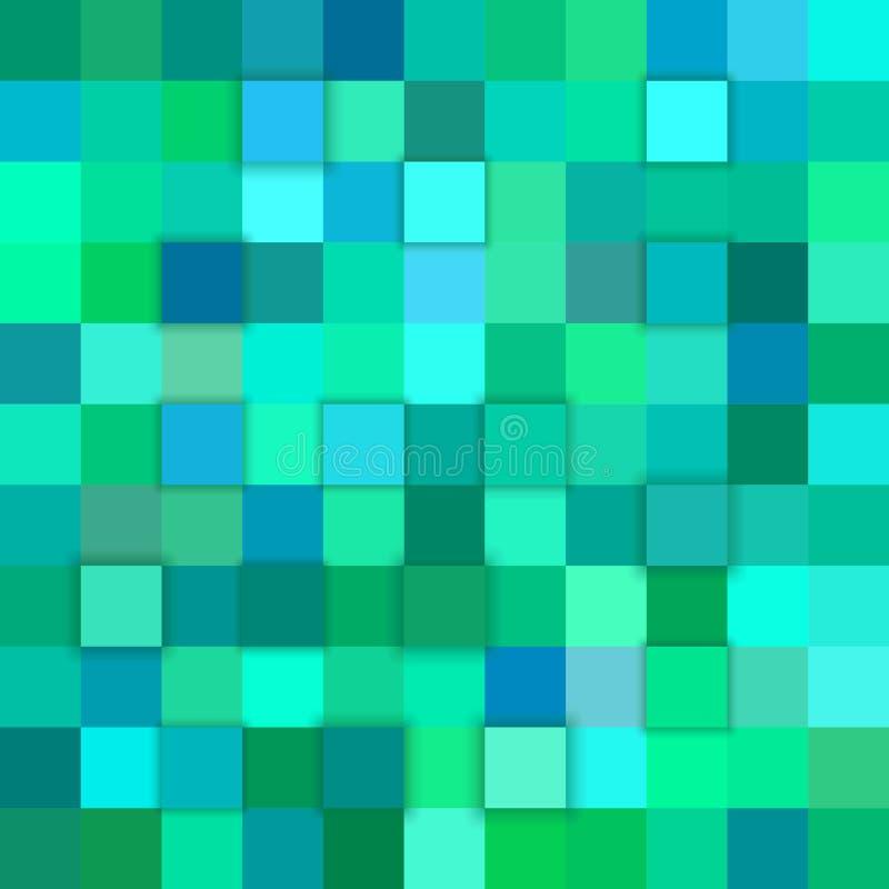 Fondo del cubo dell'estratto 3d di Teal illustrazione di stock
