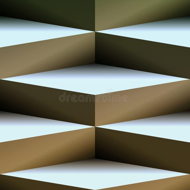 Fondo del cubo raffinato illustrazione vettoriale