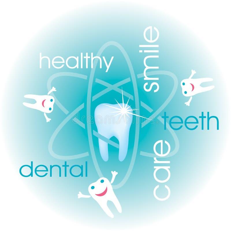 Fondo del cuidado dental stock de ilustración