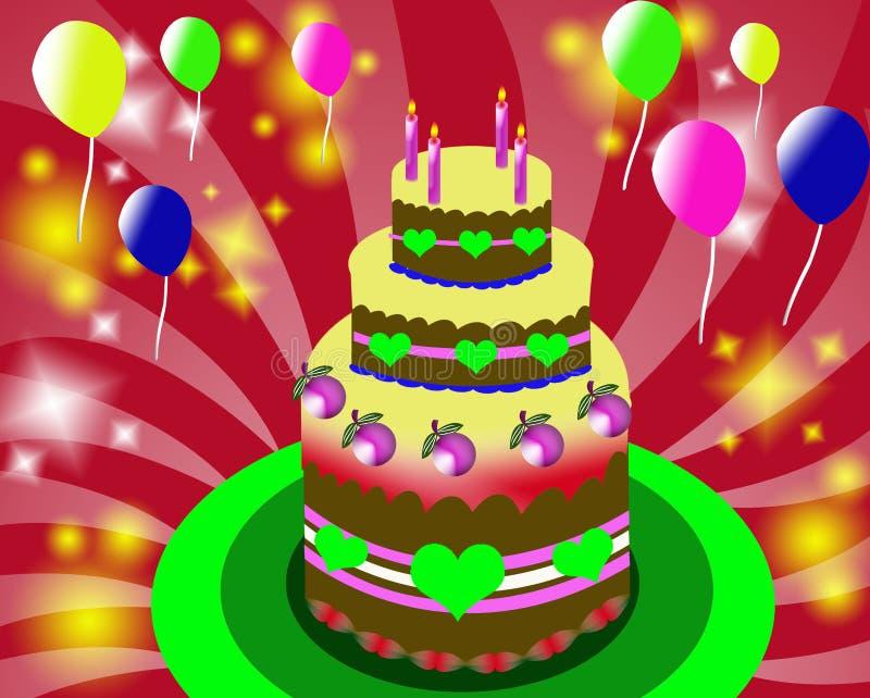 Download Fondo del cumpleaños stock de ilustración. Ilustración de chocolate - 7285392