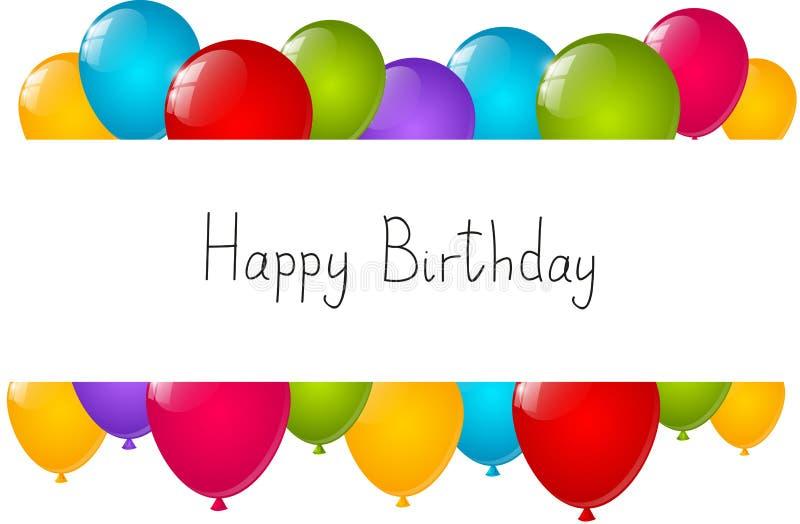 Fondo del cumpleaños con los globos libre illustration