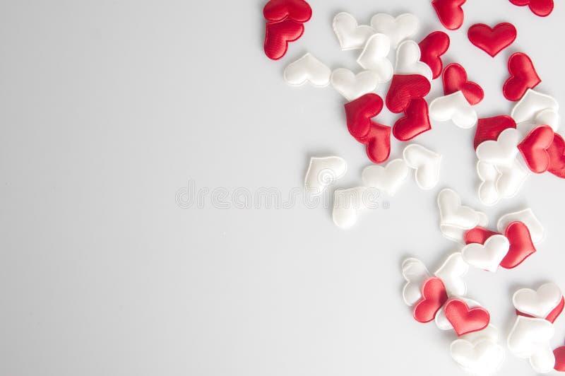 Fondo del cuore di giorno di biglietti di S. Valentino fotografia stock