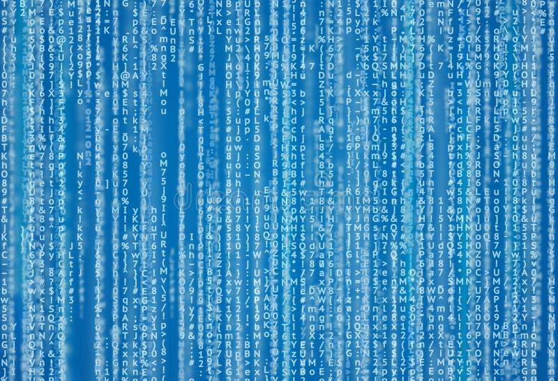Fondo del Cyberspace con le cifre ed il testo royalty illustrazione gratis