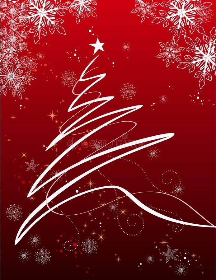 Fondo del día de fiesta con el árbol de Navidad ilustración del vector