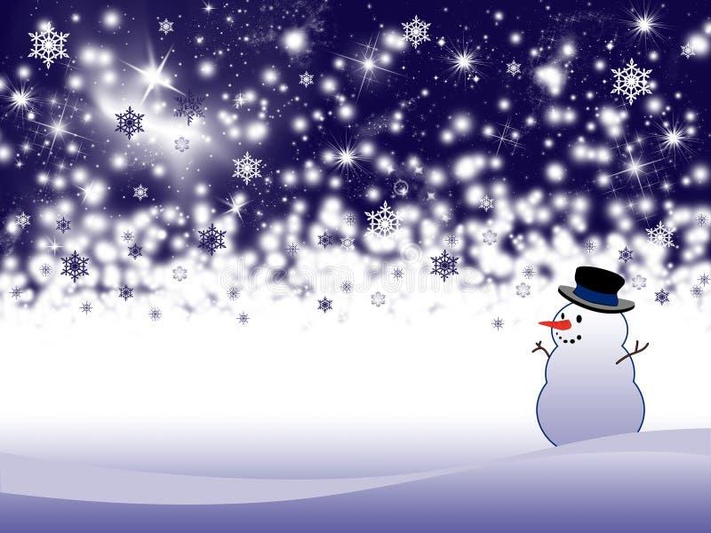 Fondo del día de fiesta de invierno ilustración del vector